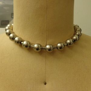 Metal Ball and Chain Necklace and Bracelet Set